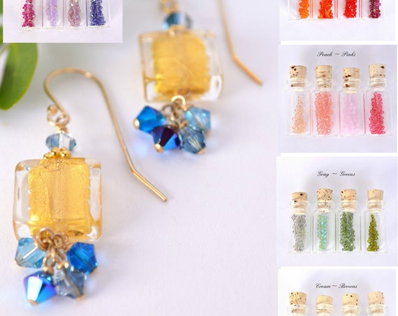 Custom Color Wedding Jewelry ~ Murano Earrings