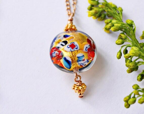 Handblown Murano Glass Necklace