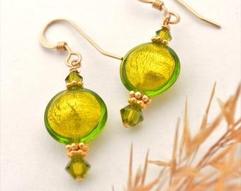 Green Murano Glass