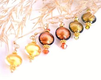 Yellow Gold Murano Glass