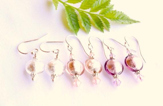 Blush Pink Earring Set