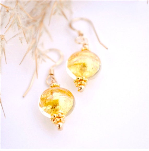 Bridesmaid Gift Box | Spring Bride | Girlfriend Ideas |  Venetian Glass Earrings