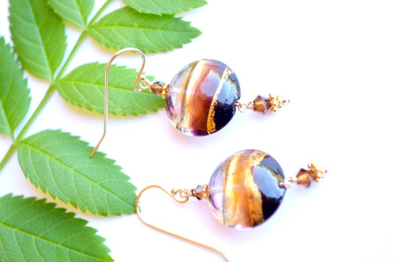 Glass Disc Earrings