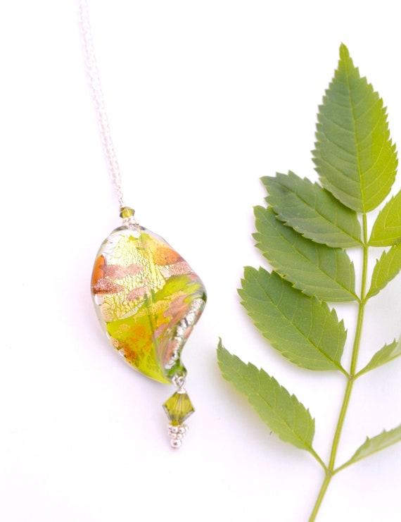 Green Murano Glass Twist