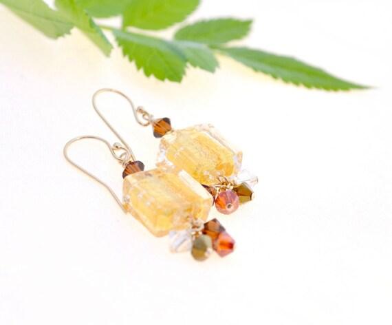 Italian Glass Earrings