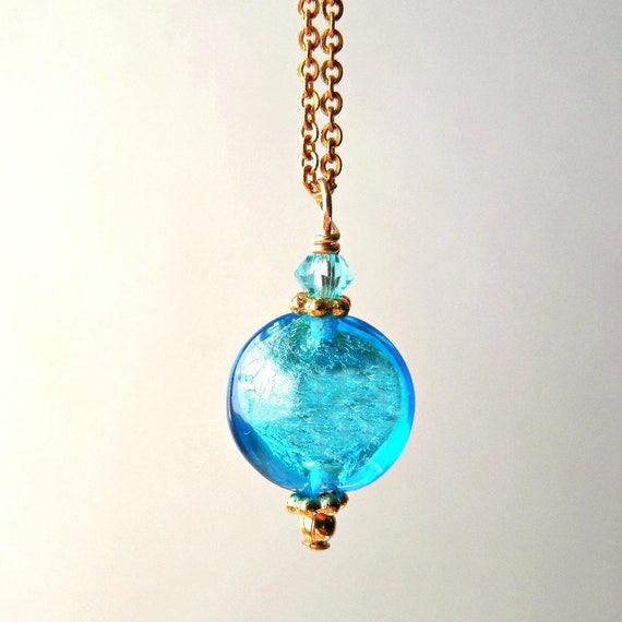 Aqua Murano Glass Pendant
