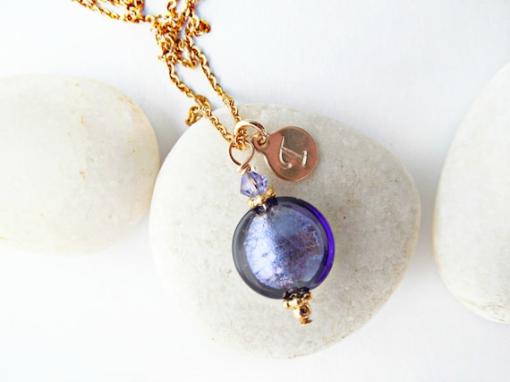Murano Glass Disc Necklace