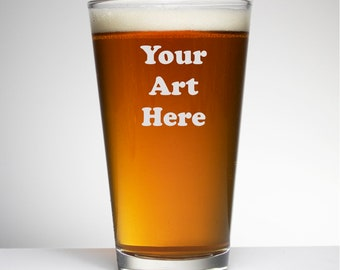 Custom Sand Carved Beer Glass, Birthday, Mother's Day, Groomsmen, Bridesmaids, Gifts For Him