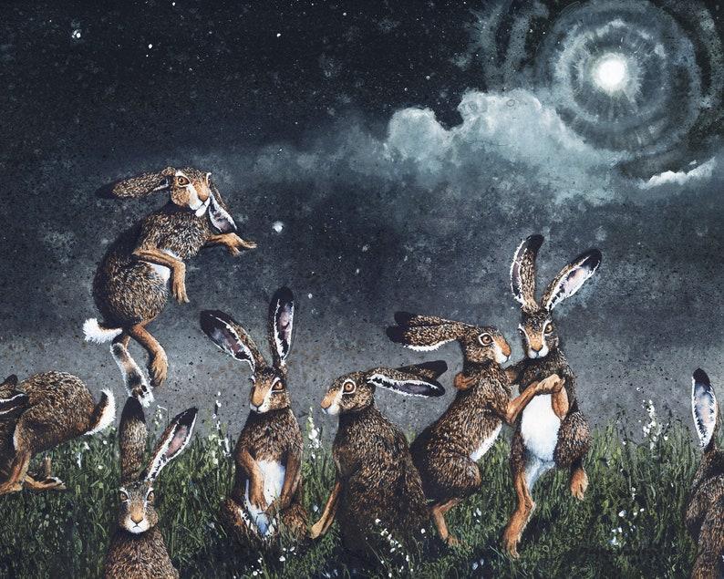 Watercolor Print Moondance de Maggie Vandewalle. 8 x 10 image 0