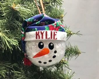 personalized snowman ornament custom christmas ornament snowman christmas ornament holiday ornament christmas decor keepsake ornament