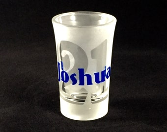 Personalized Shot Glass 21 21st Birthday Gift Etched For Her Him Finally Legal