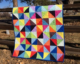 Bold and Bright Baby Quilt