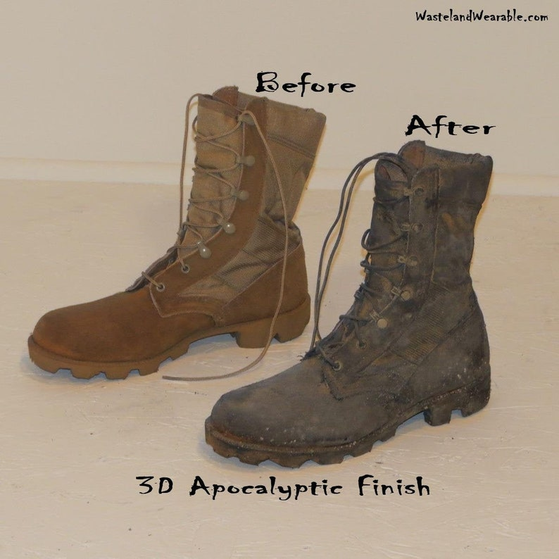 6cdd1435eec Apocalyptic COMBAT BOOTS, Send me YOUR boots, I'll distress them for you!  Army Combat Boots