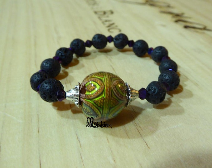Bracelet adjustable ball-Miskia-Mood-bead that changes color with the temperature (or mood)