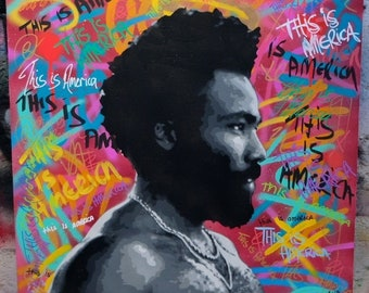 This is America, stencil spray paint on canvas