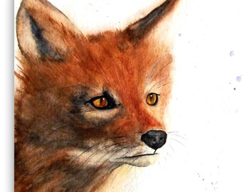 exclusive animal portraits - dog, cat, horse, bird, mouse ... all animals - original hand painted watercolor - unique