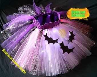 New Gothic Baby Girls Black Purple Spider Web lace satin Petal tutu Skirt