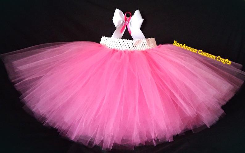 Breast Cancer awareness tutu BanAnnaz Custom Crafts breast cancer racer breast cancer event pink tutu with breast cancer ribbon