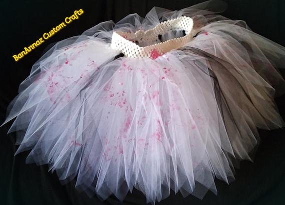 BanAnnaz Custom Crafts, bloody tutu, zombie tutu, bride of frankenstein  tutu, purge tutu, horror costume, gore costume, zombie walk tutu