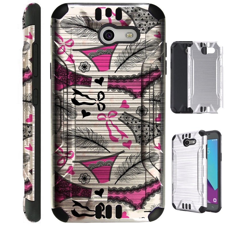 Silver Guard For Alcatel A30 Kora Zip CameoX Verso Raven Huawei Ascend XT2  Elate 4g Hybrid DualLayer Armor Cover Slim Case PINK PANTIES
