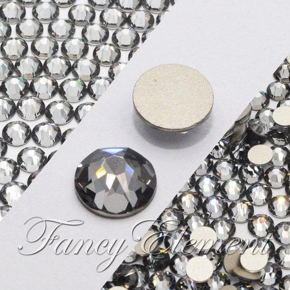 SSHA Swarovski Flatback Rhinestones Nail Art Crystal Silver Shade No Hotfix