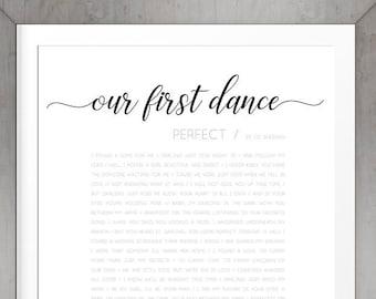 First Dance Lyrics Etsy