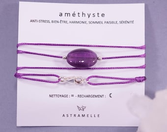 Necklace / greed Amethyst Charm Bracelet