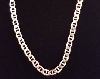"C025 13.7g Vintage Solid Silver Anchor Chain 24"" Sterling Necklace"
