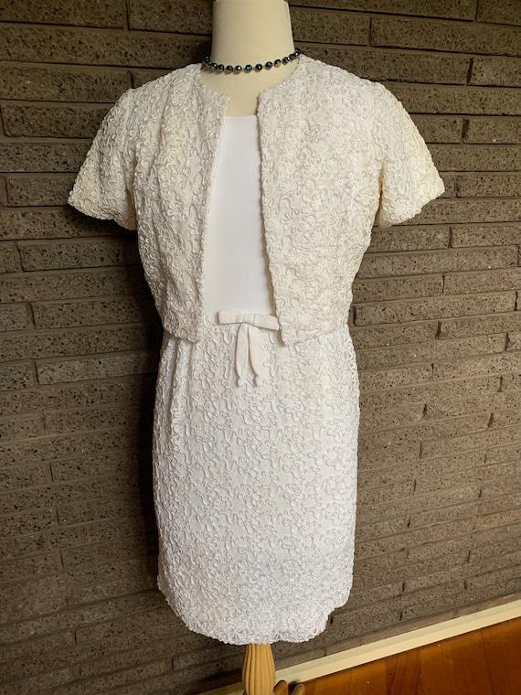 Vintage 1960s Susan Small Wedding Dress & Bolero J