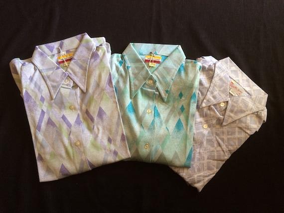 Fletcher Jones Long Sleeve Fine Knitted Shirts / … - image 8