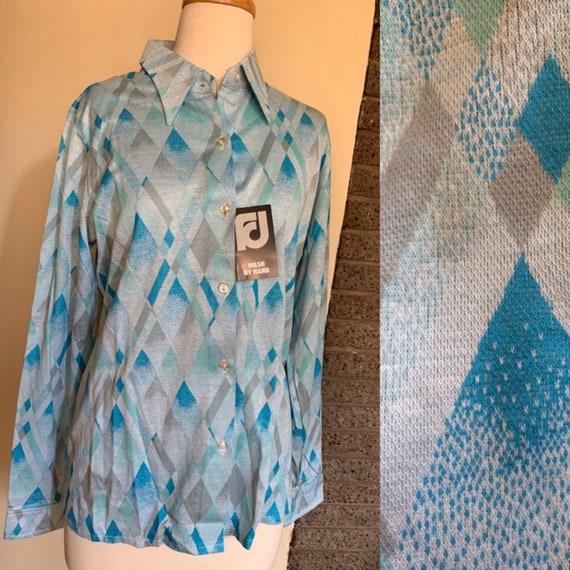 Fletcher Jones Long Sleeve Fine Knitted Shirts / … - image 4