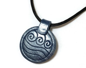 Water Tribe Pendant, Avatar: The Last Airbender Necklace /Legend of Korra Necklace, Katara Cosplay, Katara's Necklace, Water Element Charm