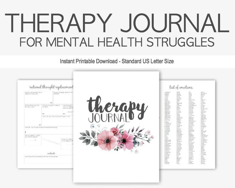 e661a76e293 Therapy Journal for Mental Health Struggles  Depression