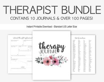 Therapist Bundle: Therapy Journals for Mental Health Struggles, Depression, Anxiety, Eating Disorders, Borderline Personality, Grief, PTSD