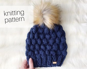 Knitting Pattern - Bubble Beanie // Cozy, Hat, Winter Fashion, DIY Instructions, Instant Download