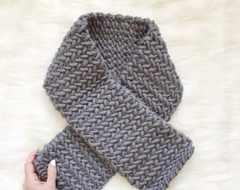 Knitting Pattern - Easy Herringbone Scarf // Snug Scarf