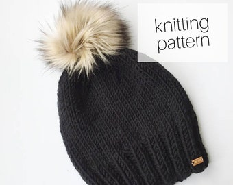Knitting Pattern - Campfire Beanie // Knit Hat, Cozy Winter Fashion, DIY Instructions, Instant Download