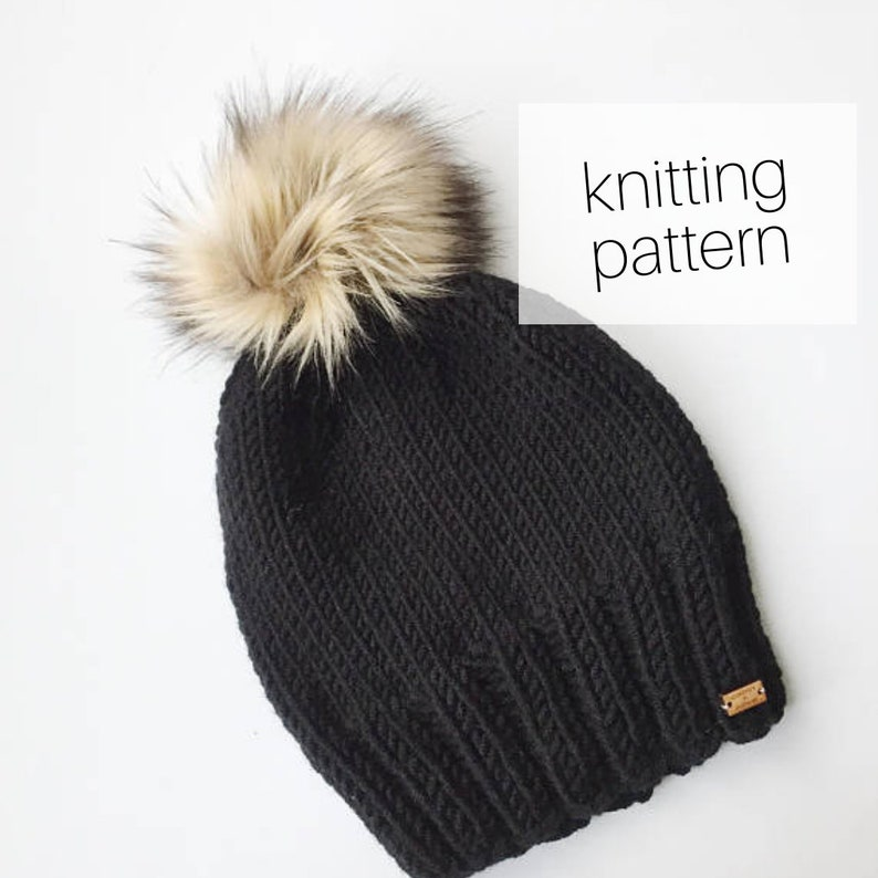 Knitting Pattern  Campfire Beanie // Knit Hat Cozy Winter image 0