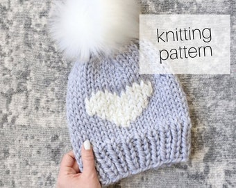 Knitting Pattern - Big Love Beanie // Cozy Hat, Winter Fashion, DIY Instructions, Instant Download