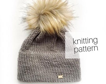 Knitting Pattern - Double Brim Beanie // Cozy Hat, Winter Fashion, DIY Instructions, Instant Download