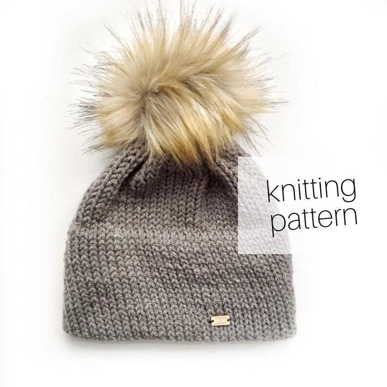 Knitting Pattern  Snow Day Beanie // Double Brim Hat Cozy image 0