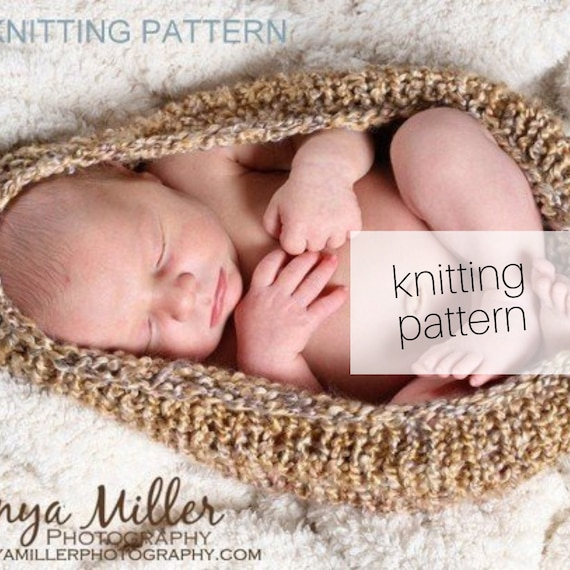 Knitting Pattern Newborn Pod Quick And Easy Diy Newborn Photography Prop Instant Download