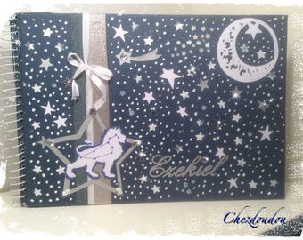"Birth size 20 ""blue"" A4 album pages personalized with name"