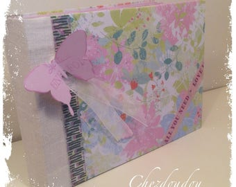 """Guest book or photo album pastel """"all you need is..."""""""