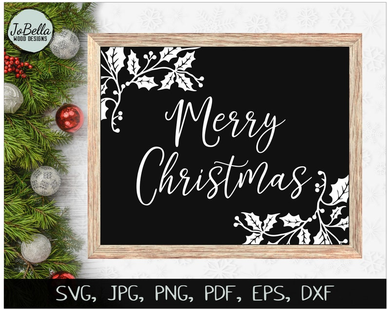 photo regarding Merry Christmas Printable named Merry Xmas svg Printable, Merry Xmas Printable, Xmas SVG, Merry Xmas Sublimation, Merry Xmas Decoration, Holly