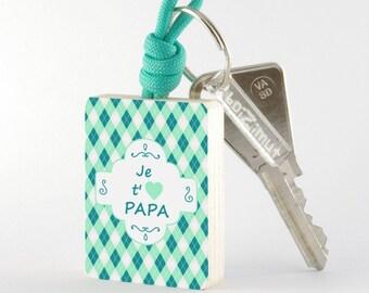 "Wooden key ""I love Daddy"""