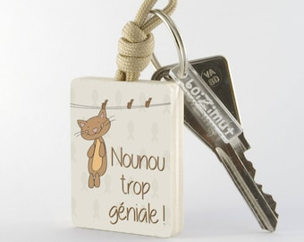 "Key fob ""Nanny so awesome!"""