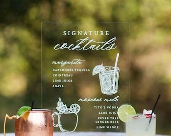 Signature Cocktail Acrylic Signage