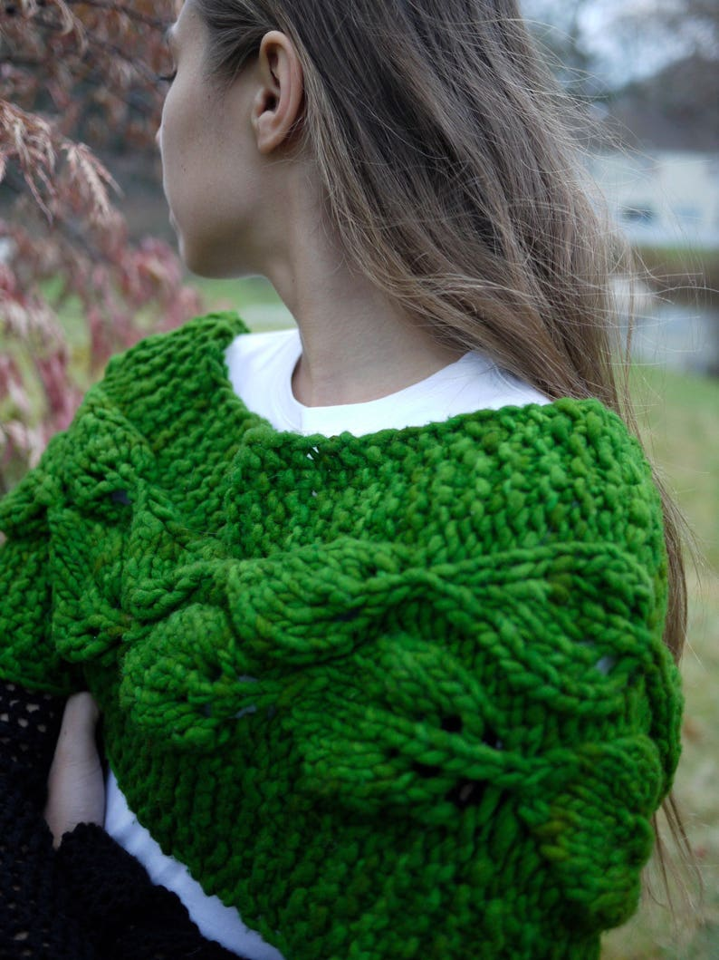 Vines and Leaves Cowl or Wrap image 0