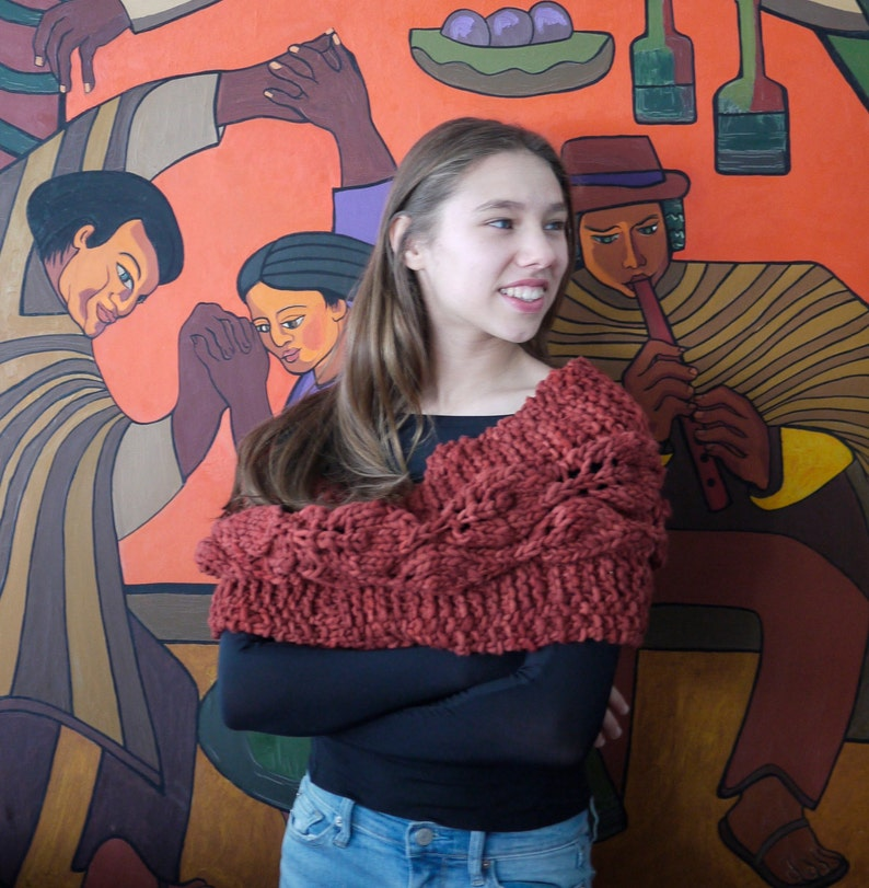 Vine and Leaf Cowl or Wrap image 1